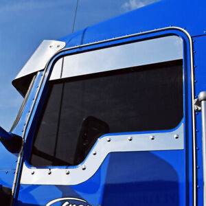 Kenworth W900 T800 T600 T300 Daylite Door Under Window Trim Stainless Steel