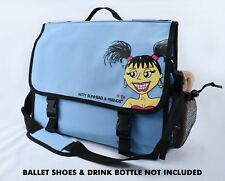 Girls'/ Ladies Dance Bag - Nylon, Messenger-Style, Blue, Betty Bunhead & Friends