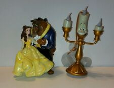 Disney Beauty And The Beast Belle Light Up Lumiere Christmas Ornament Set Of 2