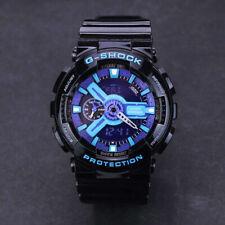 Casio G-Shock Waterproof Sports Men's and Women's Watches Black Purple GA-110-HC