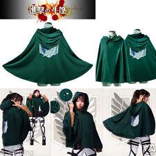 Free Size Anime Shingeki No Kyojin Cloak Cape Clothes Cosplay Attack On Titan US