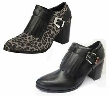 Zip High (3 in. and Up) Heel Leather Boots for Women