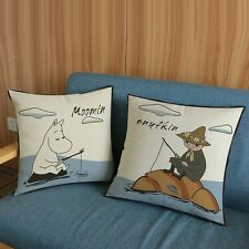 Pair of Moomin & Snufkin Cushion Covers, 45cm x 45cm, UK Seller, BNWT