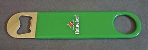 Heineken Lager Beer Bottle Opener Pub Bar Blade Rubber Grip Man Cave New Sealed