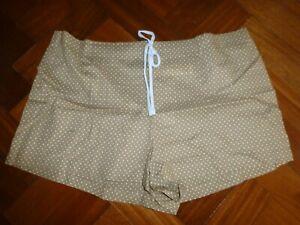 Brand New M&S size 18 brown spotty PJ shorts 100% Cotton
