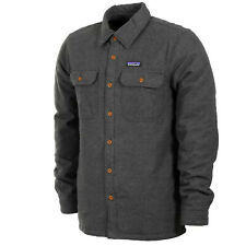 Patagonia Mens - Insulated Fjord Flannel Jacket - Forge Grey