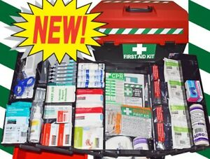 FIRST AID KIT - LARGE KIT BOX - SAFE WORK COMPREHENSIVE - EDUCATION / BIG GROUPS