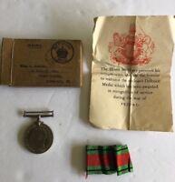 1939-45 British WAR MEDAL DEFENCE SET WW 2ORIGINAL  Provenance to Awardee