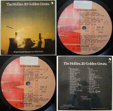 THE HOLLIES 20 GOLDEN GREATS 1980 PROMO UNIQ CVR!!! MEGARARE CHILEAN PRESS!!!