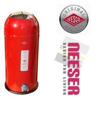 Wesco KICKMASTER MAXI 40L Design Abfalleimer Mülleimer in ROT 180731-02