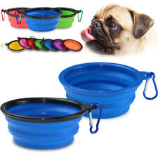 Outdoor Home Silicone Pet Dog Cat Water Food Bowl Foldable Portable Dish Feeder