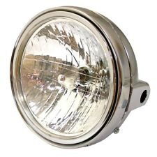 "Universal Single 7"" Round Chrome Motorcycle Headlight Streetfighter Cafe Racer"