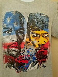 MAYWEATHER VS PACQUIAO OFFICIAL MVP PRODUCT FIGHT SHIRT LARGE MGM GRAND