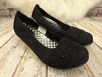 Womens Cushion Walk Black Slip On Soft Shoes Various Sizes!