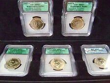 2007 WASHINGTON DOLLAR MISSING EDGE LETTERING 5 COIN SET MS67 IN CASE/HOLDER