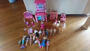 Großes Barbiepaket, Barbiepuppe - Pferde - Schrank - Kutsche - Ken
