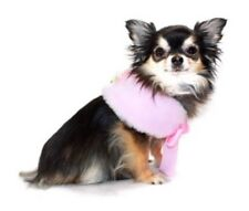 Nwt Dog Luxurious Faux Fur Cape By Hip Doggie, Pink, Size Large