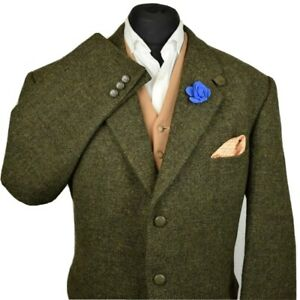 Harris Tweed Tailored Country Textured Green Blazer Jacket 48S #951 IMMACULATE