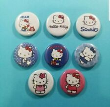 """Hello Kitty - set of 8 1"""" pins buttons badges Sanrio"""