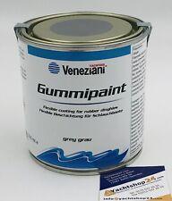 (47,80€/L) Veneziani Gummipaint Schlauchbootfarbe Gummifarbe, Rubberpaint: grau
