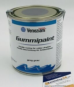 (51,80€/L) Veneziani Gummipaint Schlauchbootfarbe Gummifarbe, Rubberpaint: grau