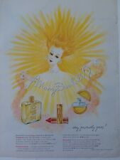 1949 Mary Dunhill precious cologne Cosmetics graphic art vintage ad