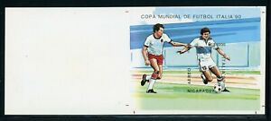 Nicaragua MNH Specialized: Scott #C1169 9000C IMPERF PROOF S/S SOCCER FOOTBALL $