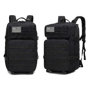 45L Shoulde Tactical Backpack Travel Camping Hiking Trekk Bag Multifunction USA
