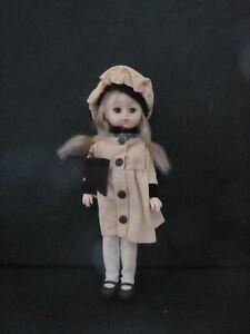 Vintage New Vogue Ginny Doll Vinyl Yellow Coat Beret Blonde Complete Circa 1977