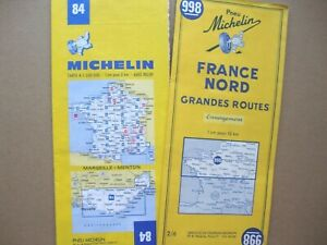 2 MICHELIN MAPS - (France) -   France Nord  &   Marseille > Menton