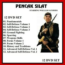PENCAK SILAT 12 DVD Set with William Sanders training series panther productions