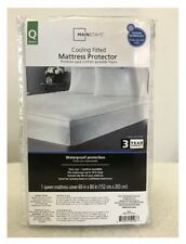 Mainstays Cooling Comfort Luxury Fitted Waterproof Mattress Protector Queen