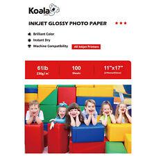 Koala 11x17 Premium Glossy Inkjet Printer Photo Paper 100 Sheets Canon HP 230g