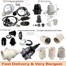 E27 EDISON Light Bulb Socket LED Lamp Holder Fitting / plug in light bulb kit