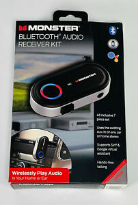 New Monster Bluetooth Audio Receiver Kit Wireless Play Audio MBA9-1009-BLK