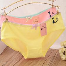 4 Pcs Packed Heart Cat Cotton Girl Women Briefs Panties Underpants Underwear