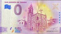 BILLET 0  EURO SAN ANDRES DE TEXEIDO ESDPAGNE 2020  NUMERO DIVERS