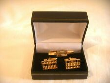 Vintage 14ct Yellow Gold Abacus Cufflinks and Tie Clip Moveable Beads 13.5 gms