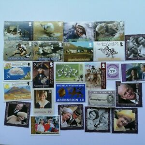 25 Different Ascension Island Stamp Collection