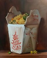 """""""Fried Rice"""" NOAH VERRIER - LARGE Still life oil painting 24x19 Signed art print"""