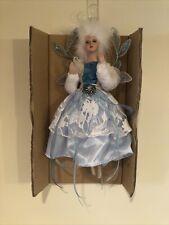 12� Hanging Fairy Ornament, White / Blue, Kf5382