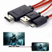 MHL Micro USB to HDMI 1080P HD TV Cable Adapter for Samsung Android Smart Phones