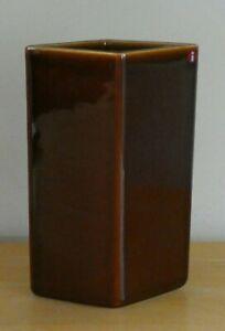 "iittala Finland R&E Bouroullec 7.25"" Dark Brown Ceramic Ruutu Vase (BNWOT)"