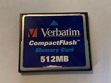 Verbatim 512MB Compact Flash card memory card fits DSLR camera