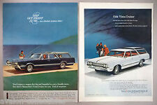 Oldsmobile Vista Cruiser PRINT AD - 1965 ~ LOT of 2 diff. ads