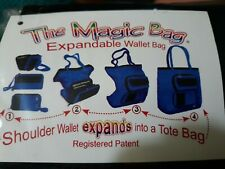 The Magic Bag purse Expandable Wallet Tote Bag - from Wallet to Back Pack Large