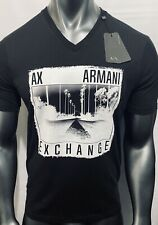 New Armani Exchange Mens Muscle Slim Fit LOGO BAND V-NECK