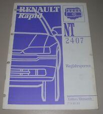 Werkstatthandbuch Renault Rapid Wegfahrsperren Alarmsysteme 1. + 2. Generation!