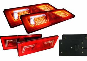 2x LED Rückleuchten mit 5 Funktionen Lauflicht Neon Effekt 12/24V LKW Anhänger