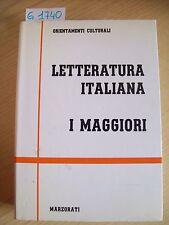 LETTERATURA ITALIANA - I MAGGIORI - MARZORATI EDITORE - 1990